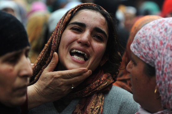 in december alone indian troops martyred 14 kashmiris including two women photo afp