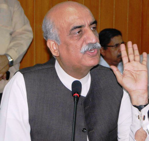 leader of the opposition in national assembly syed khursheed shah photo pid file