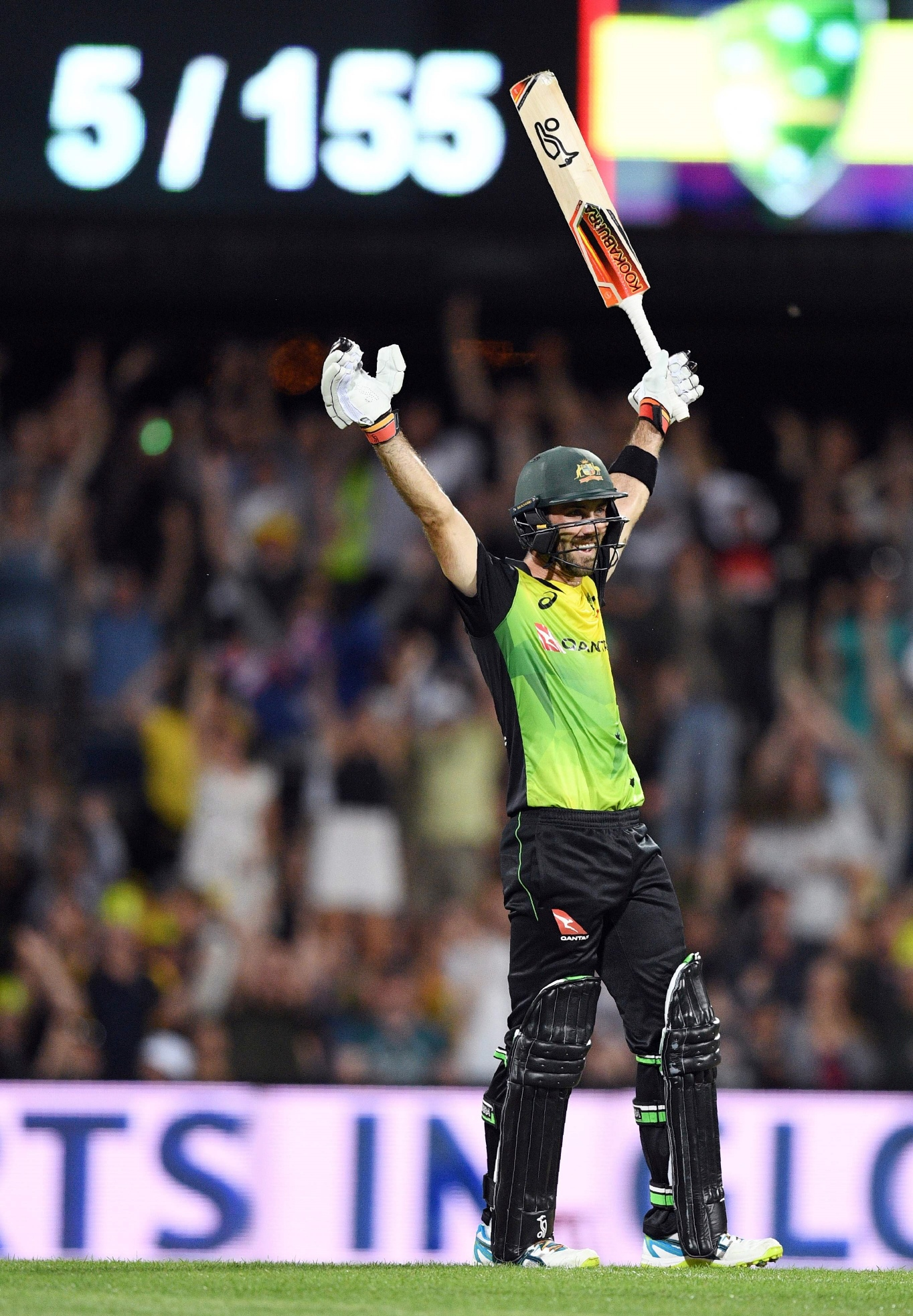 maxwell was both the standout bowler and the standout batsman as he almost single handedly took the game away from england in both innings photo afp