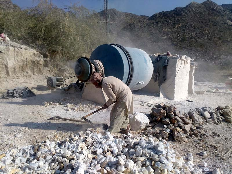 breathing dust mohmand s labourers being crushed in struggle for life