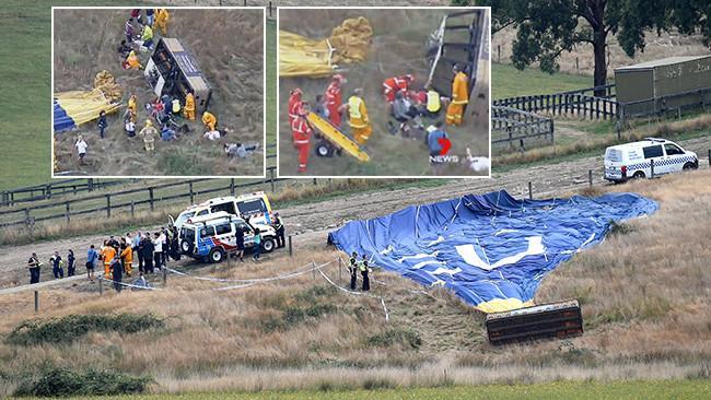 hot air balloon crash in yarra valley photo courtesy the west austrailian