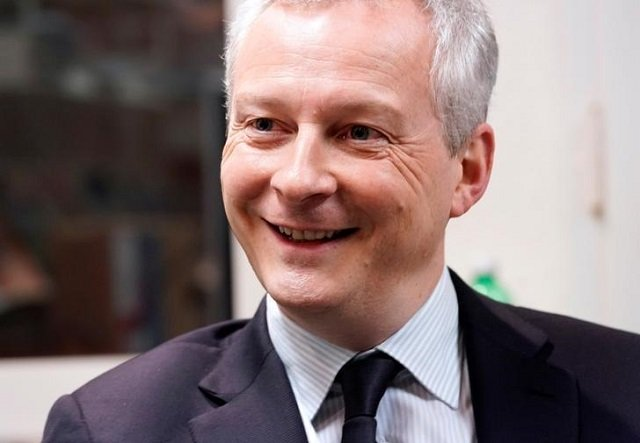 French Finance Minister Bruno Le Maire attends an interview with Reuters during the World Economic Forum (WEF) annual meeting in Davos, Switzerland January 25, 2018. PHOTO: REUTERS