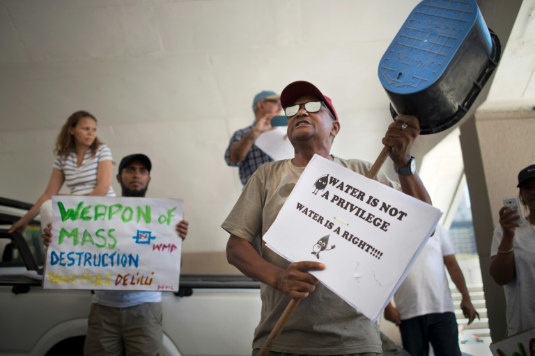 most cape town residents will be forced to queue at communal taps at 200 water points to collect a daily ration of 25 litres photo afp