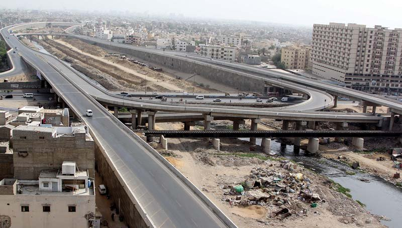 a view of the lyari expressway photo file