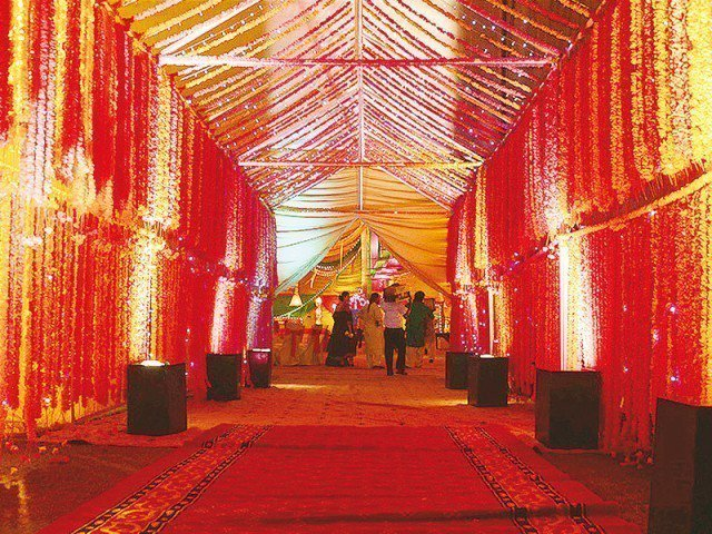 cda presented a set of new rules for regulating wedding halls and marquees before the supreme court on thursday photo file