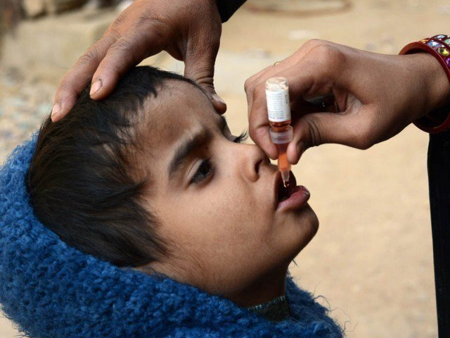 poliovirus found in environmental samples collected from the vicinity of kohat have been traced back to neighbouring afghanistan photo afp file