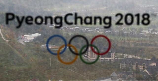 the pyeongchang 2018 winter olympic games logo is seen at the the alpensia ski jumping centre in pyeongchang south korea september 27 2017 photo reuters