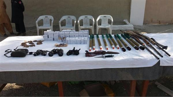 cache of arms ammunition recovered in ibos photo ispr