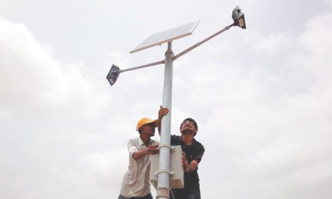 villages install solar panels in a village in sindh photo reuters file