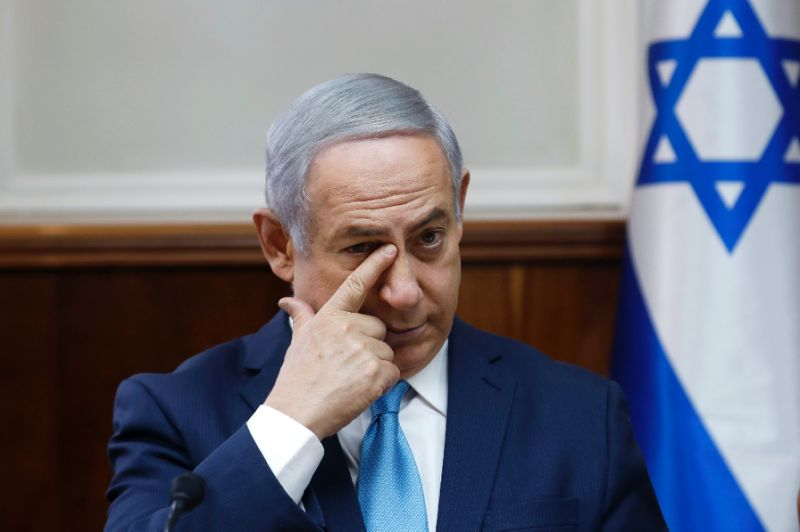 israeli prime minister benjamin netanyahu attends a cabinet meeting in jerusalem photo afp