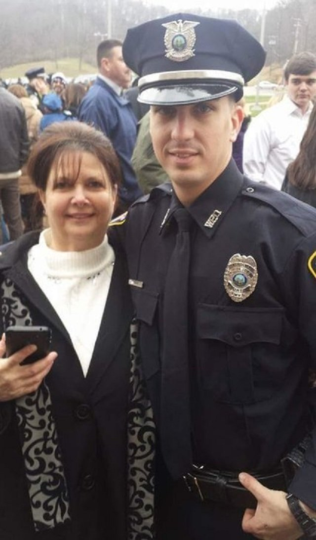 stephen mader with his mother rose mader in december 2015 mr mader was fired from his job as police officer in weirton w va last year photo courtesy american civil liberties union of west virginia