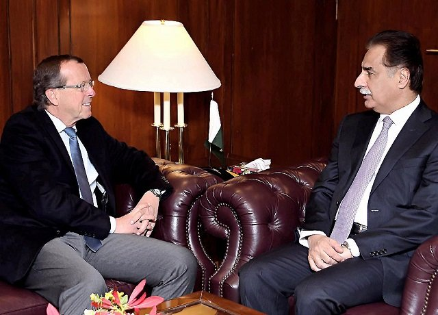 na speaker ayaz sadiq meets german ambassador martin kobler at parliament house in islamabad on tuesday photo nni
