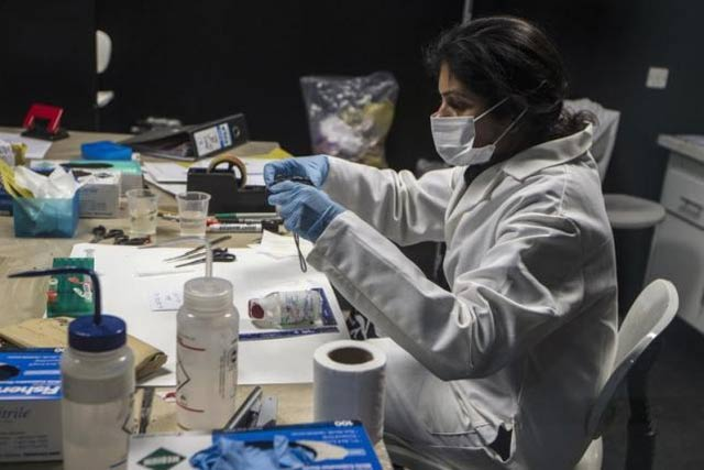 the forensic lab has solved 3 000 cases so far photo reuters