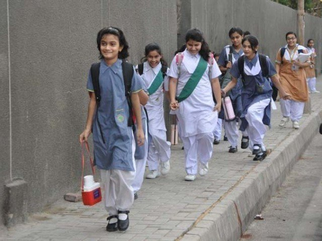 middle class families find it difficult to afford high fees of private schools photo express file