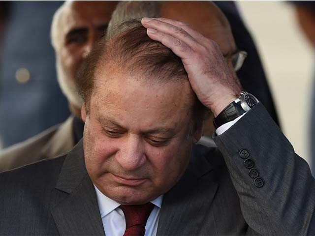 """The video goes viral on social media with """"Go Nawaz Go"""" and """"Imran Zindabad"""" being chanted. PHOTO: AFP/FILE"""