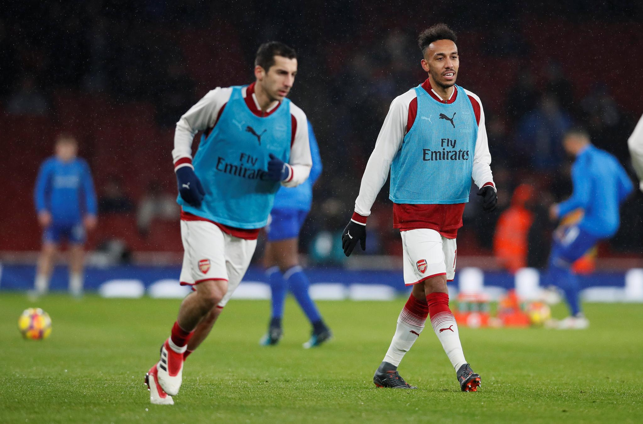 the former dortmund duo of mkhitaryan and aubameyang immediately rekindled their telepathic connection in arsenal s 5 1 win photo afp