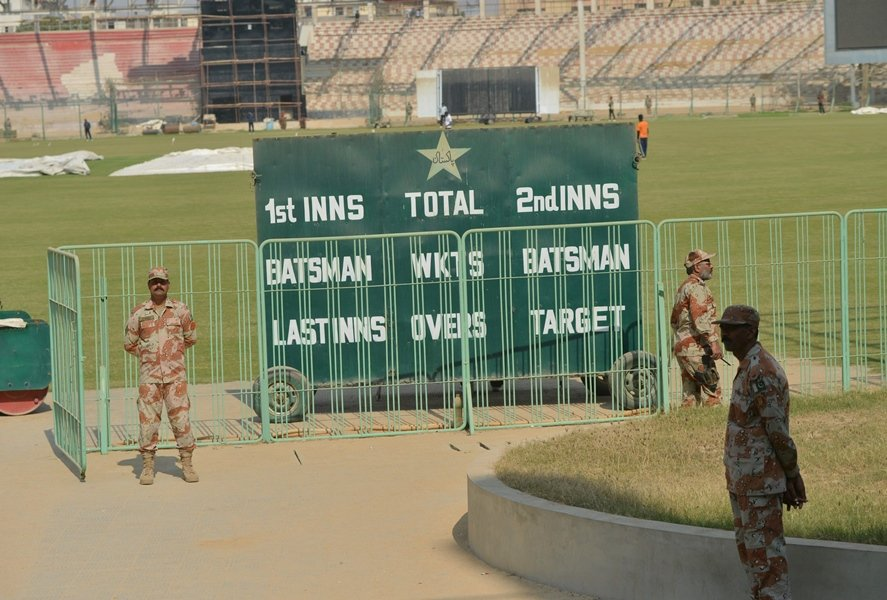 huge investment the renovation process which is expected to cost rs1 5billion to the pcb is underway at the stadium but it is uncertain whether work will be completed before the march 25 deadline photo afp