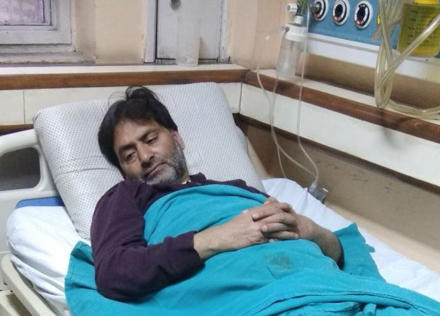 kashmiri leader has been suffering from urinary tract infections since tuesday evening photo express