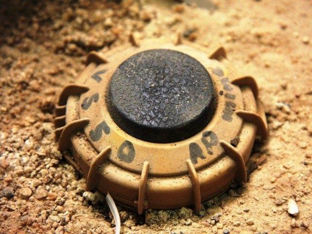 a file photo of a land mine photo file