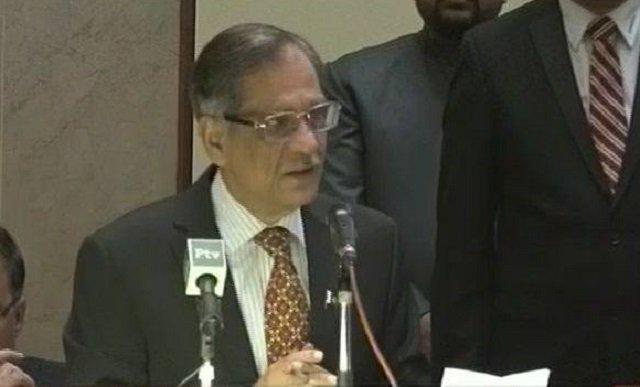 chief justice of pakistan mian saqib nisar photo file