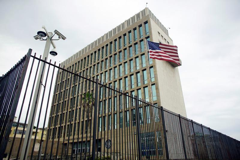 an exterior view of the u s embassy is seen in havana cuba photo reuters
