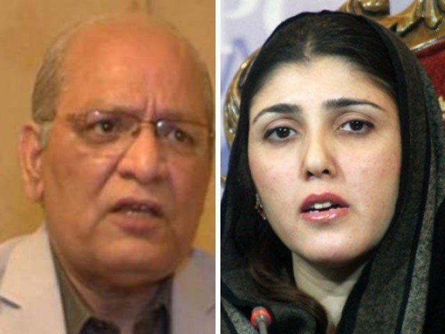 senator mushahidullah khan and pti mna ayesha gulalai photosl file