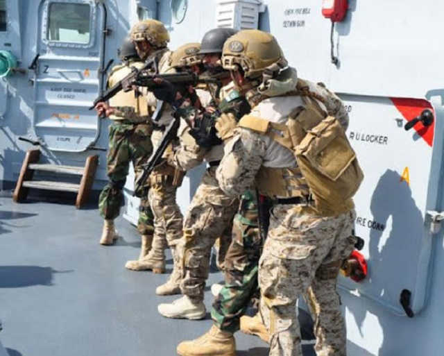 the joint naval exercises will continue till february 17 in saudi arabian waters photo pakistan navy