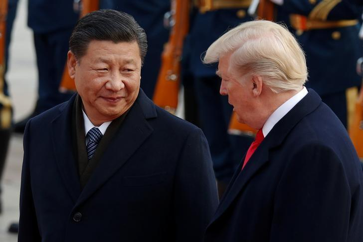 us president donald trump with china 039 s president xi jinping at the great hall of the people in beijing china photo reuters