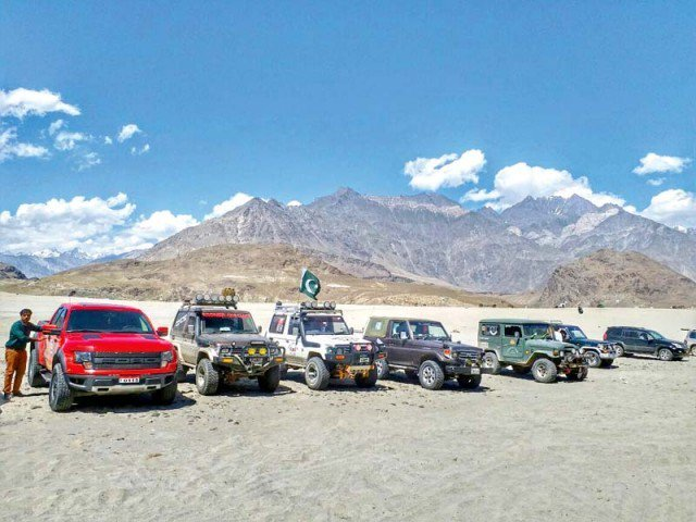jeep rally to promote tourism photo file