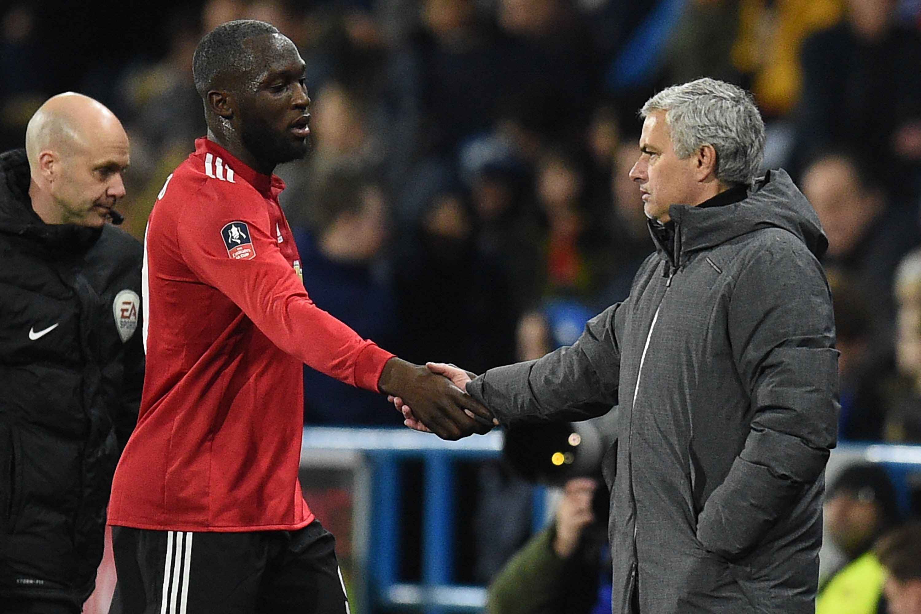united hardly missed pogba as they were comfortable 2 0 victors against huddersfield with lukaku scoring a brace photo afp