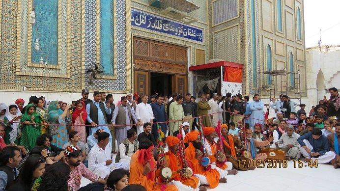 devotees perform dhamaal in memory of sehwan blast victims