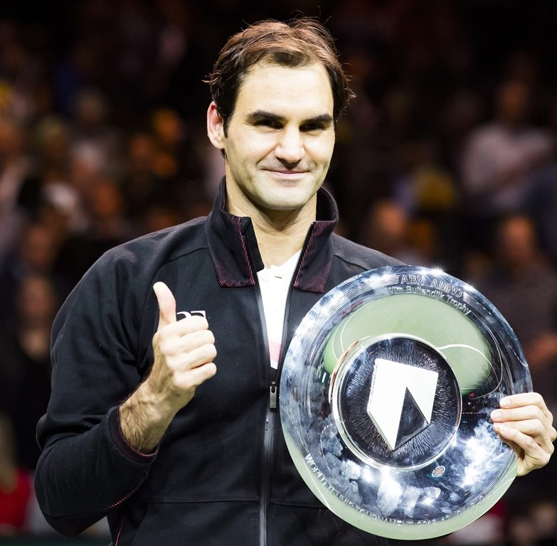 best week federer became the oldest number one and also won his 97th title the rotterdam open on sunday in a week he calls one of the best of his life photo afp