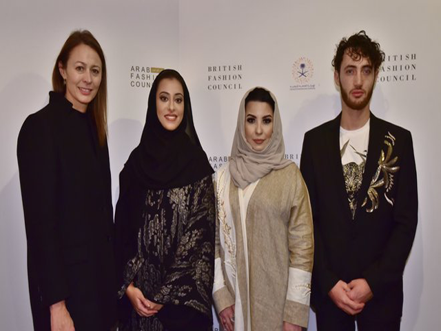 l r caroline rush ceo of the british fashion council princess noura bint faisal honorary president of the arab fashion council layla issa abuzaid ksa country director at the arab fashion council and jacob abrian founder and ceo of the arab fashion council photo courtesy arab news ben broomfield