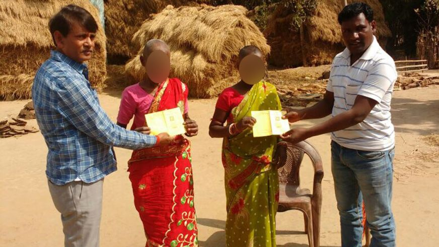 local officials presented the women with ration cards after the case emerged photo bbc