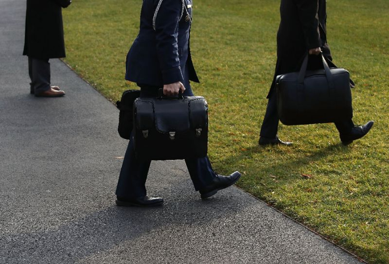 the nuclear football bag goes everywhere the us president goes carried by a military aide photo afp