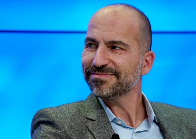 dara khosrowshahi chief executive officer of uber technologies looks on as he attends the world economic forum wef annual meeting in davos switzerland january 23 2018 photo reuters