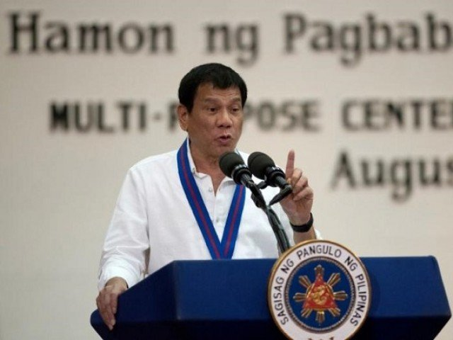 philippine president rodrigo duterte gestures while delivering a speech during the 115th police service anniversary at the philippine national police pnp headquarters in quezon city metro manila philippines photo reuters file