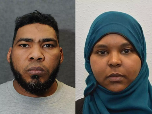 munir hassan mohammed from derby and rowaida el hassan from london were found guilty of planning terror attack photo courtesy independent co uk