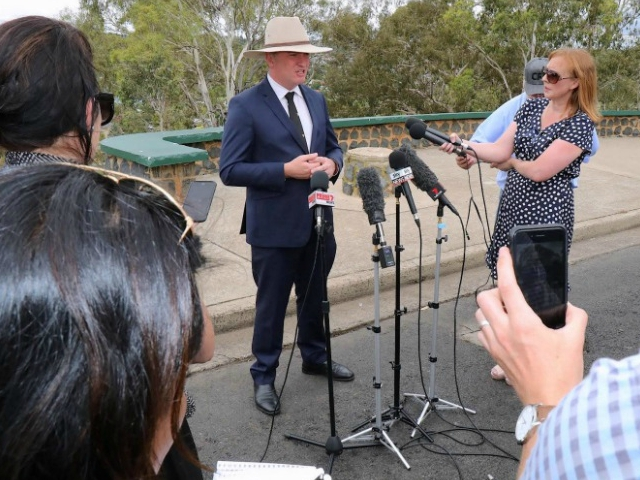 barnaby joyce australia 039 s deputy prime minister and minister for agriculture and water resources speaks during a media conference in the town of armidale australia february 23 2018 photo reuters