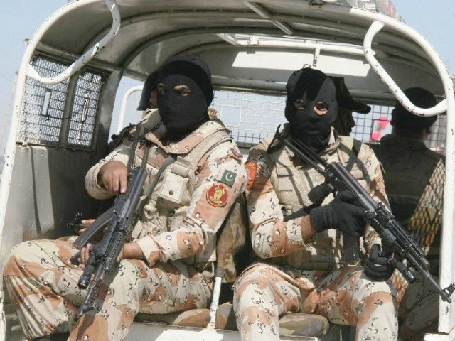 a file photo of rangers personnel in karachi photo express file