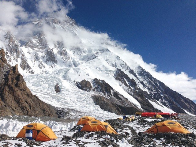 the polish team arrived at the k2 base camp late last year enduring sub zero temperatures and gale force winds photo express