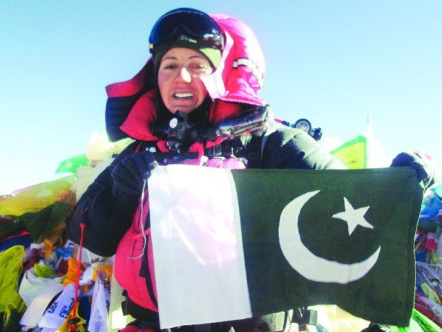 pakistani mountaineer samina baig photo file