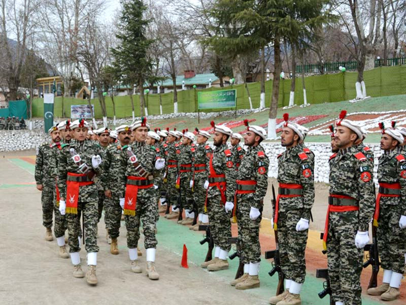 chitral scouts at passing out parade photo express