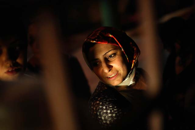 the photo shows an anonymous syrian woman photo reuters