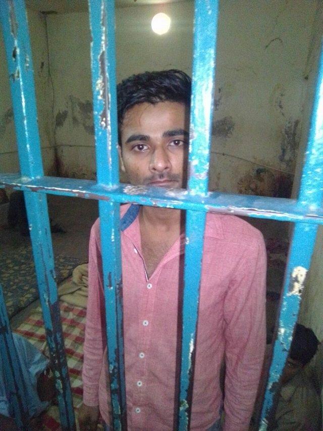 adnan pasha of viral video on shahrae faisal behind bars photo express