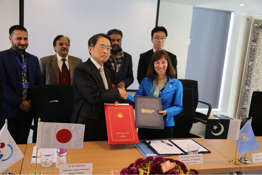 japan pakistan sign agreements for the projects photo express