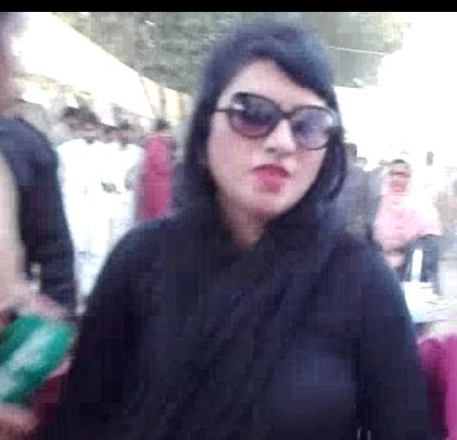 a woman claimed she was harassed and injured by men around her at pml n 039 s rally in pattoki photo screengrab