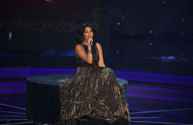 egyptian singer sherine abdel wahab performs on stage during the final show of the pan arab song contest quot arab idol quot on february 25 2017 in lebanon photo afp