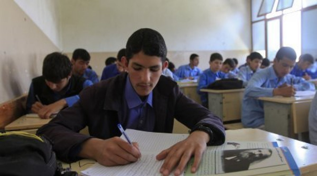 a file photo of an afghan student photo reuters