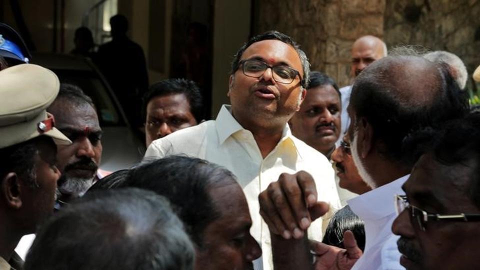 karti chidambaram son of former finance minister p chidambaram talks to media in chennai photo reuters file
